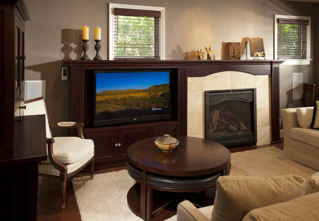 Family Room w/TV and Fireplace - San Jose, CA traditional-family-room