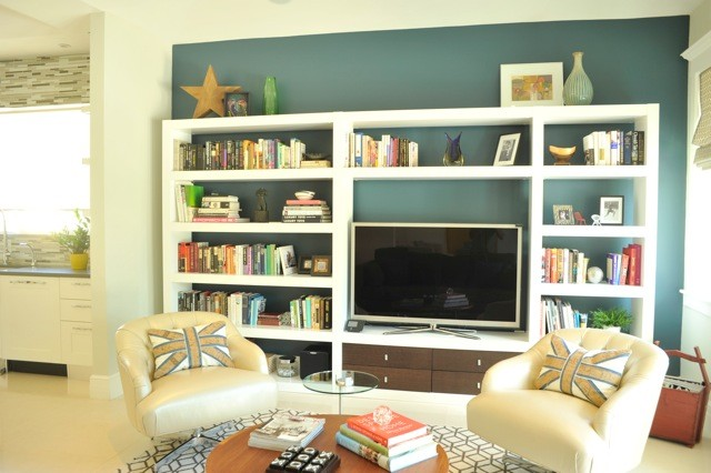 Family Room Wall Unit Eclectic Family Games Room Miami By B Design