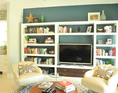 Family Room Wall Unit eclectic family room