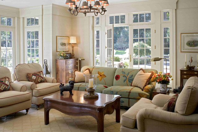 Family Room With French Doors Traditional Philadelphia By Meadowbank Designs