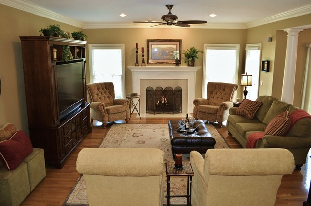 Family Room With Tuscan Flair Traditional