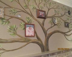 Family Tree rustic-family-room
