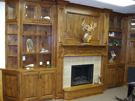 F&C Cabinets Showroom traditional-family-room