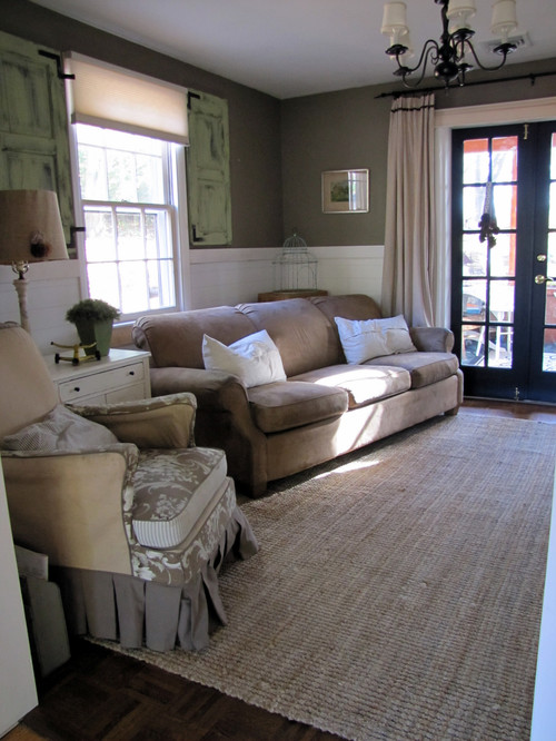Farmhouse Den eclectic family room