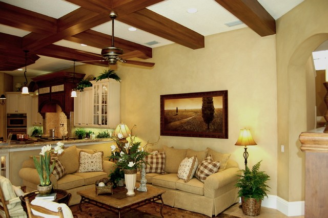 Faux Finish mediterranean family room