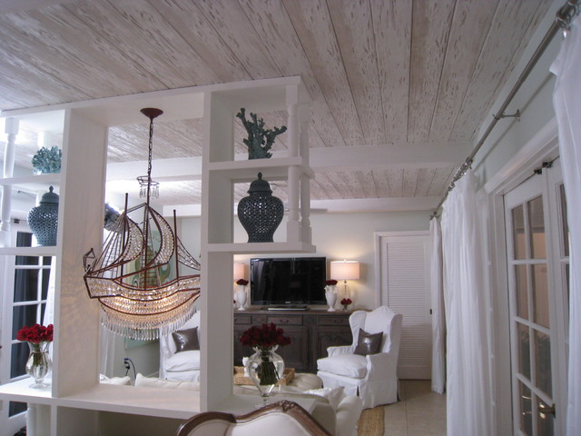 Faux Pecky Cypress Ceiling