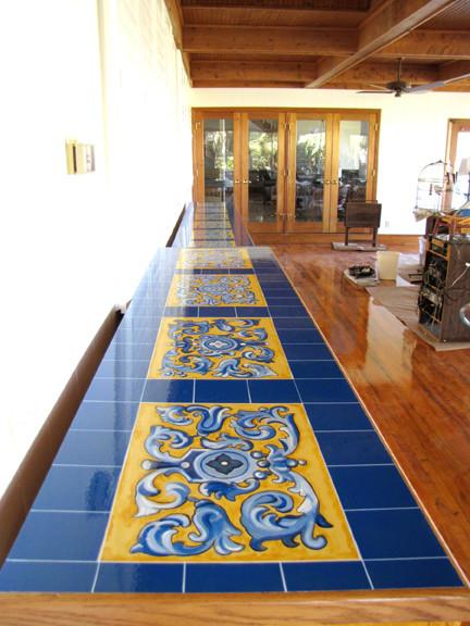 Faux Spanish Tile Countertopmediterranean Family Room Orlando