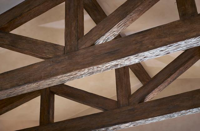 Faux wood beams trusses for Faux wood trusses