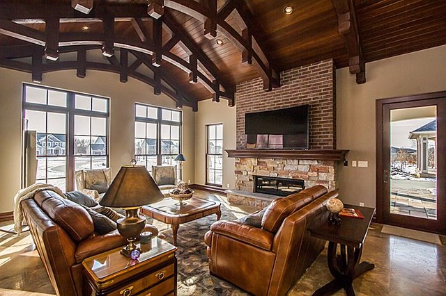 Faux Wood Beams & Trusses - Transitional - Family Room - Phoenix