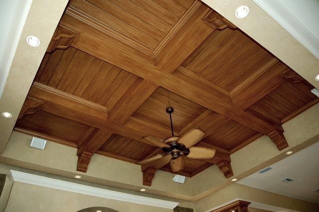 Faux Wood Graining Mediterranean Family Room Tampa