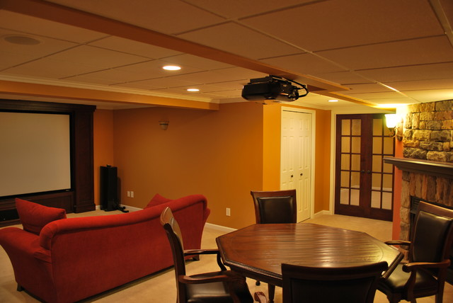 Fend Basement traditional-family-room