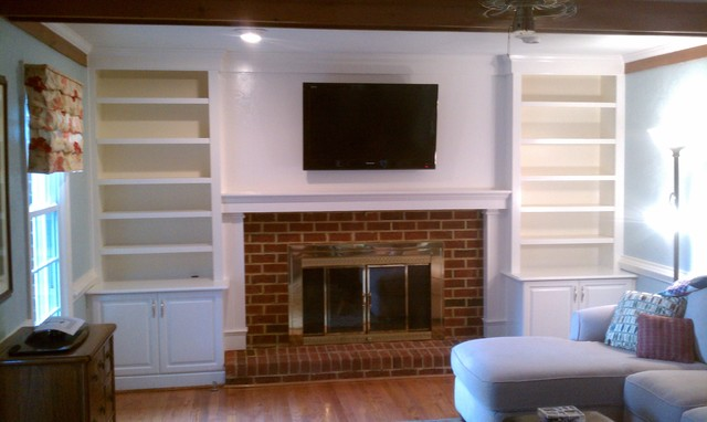 Fireplace bookcases - Traditional - Family Room - other metro - by Home Care Innovations