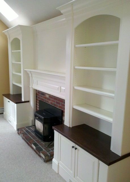 Fireplace Built Instraditional Family Room Boston