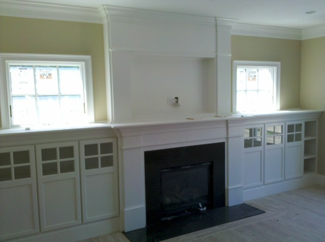 Fireplace built ins traditional family room boston by custom fireplace built ins traditional family room teraionfo