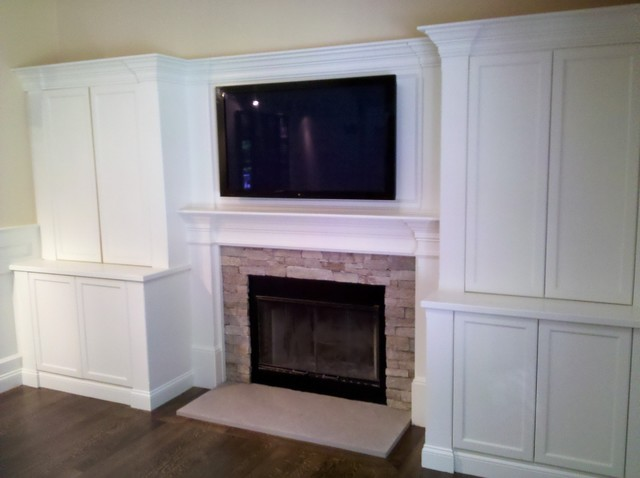Superbe Fireplace Built Ins Traditional Family Room