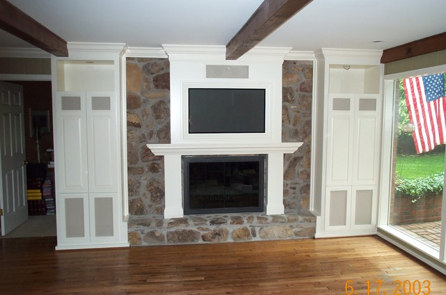 Fireplace contemporary-family-room
