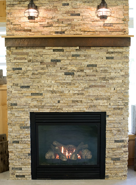 Fireplace Ideas Traditional Family Room Indianapolis By Natural Valley Recycled Granite