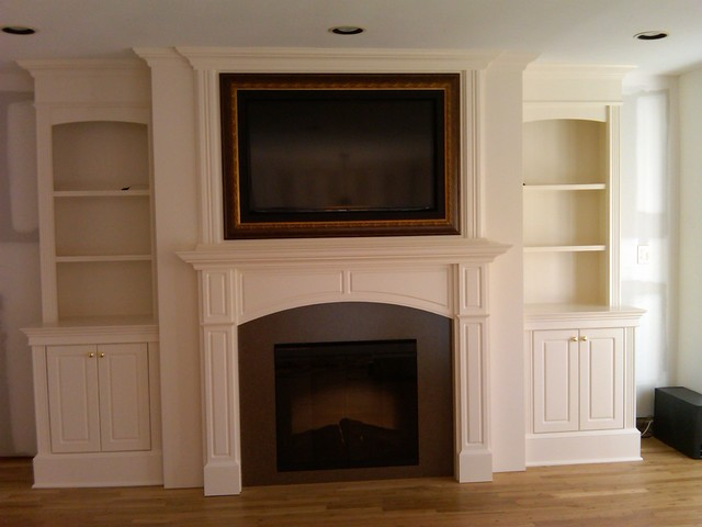 Fireplace With Artscreen Traditional Family Room New York By