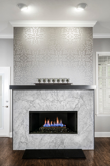 Fireplace Makeovers Modern Family Room Other By