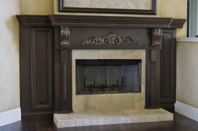 Fireplace Mantel and Surround - Traditional - Family Room - Tampa ...