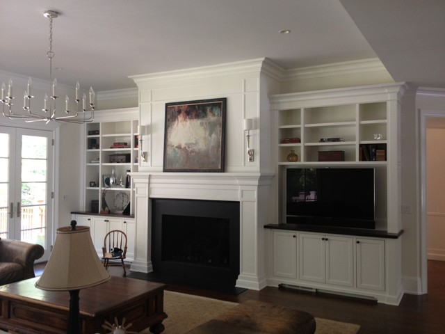 Beau FIREPLACE MANTELS U0026 SURROUNDS Traditional Family Room