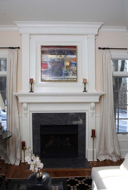 Fireplace mantels traditional family room other metro by unique technique custom - Fireplace finish ideas ...