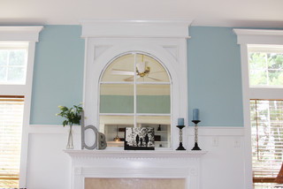 Fireplace Mirror Eclectic Family Room Other By