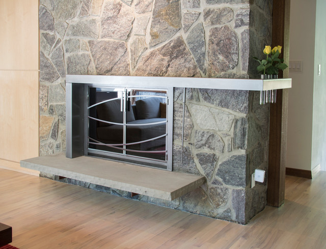 Fireplace New or Renew - Contemporary - Family Room - dc metro - by Girardini Design