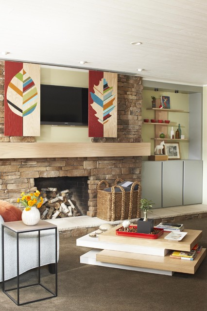 Fireplace Overhaul contemporary family room