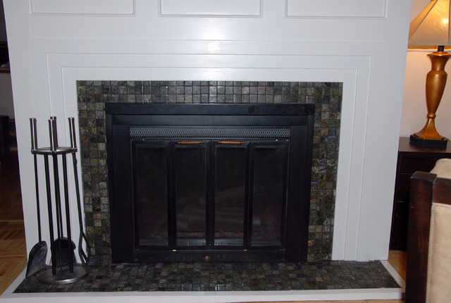 Fireplace refacing modern-family-room