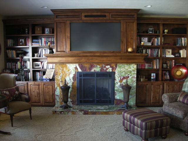 Fireplace Remodel eclectic-family-room