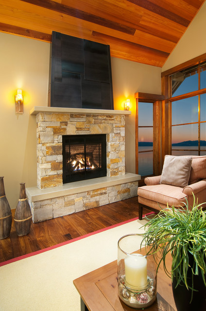 Fireplace Sitting Area Contemporary Family Room