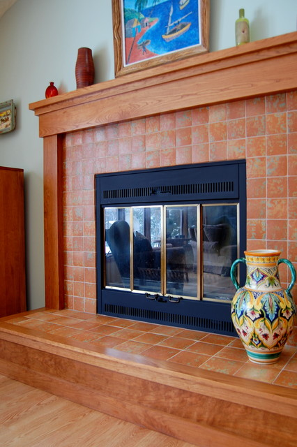 Fireplace Surround Wood Flooring Wood Refinishing
