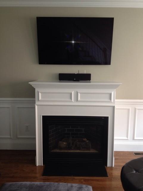 fireplace trim Family Room boston by Brosseau  : family room from www.houzz.com size 480 x 640 jpeg 38kB