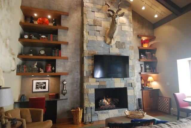 Fireplace Wall - Longbranch traditional-living-room