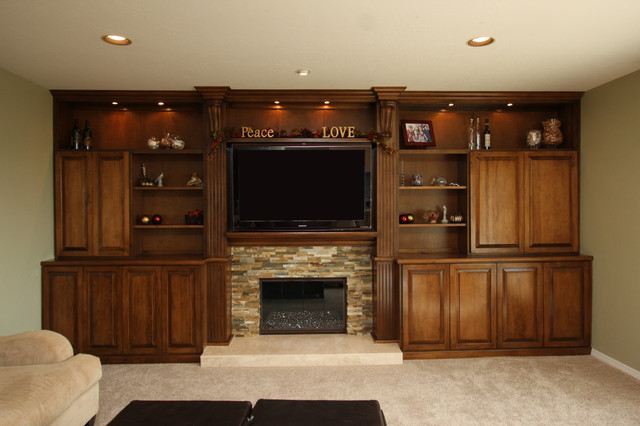 Fireplace Walls traditional-family-room
