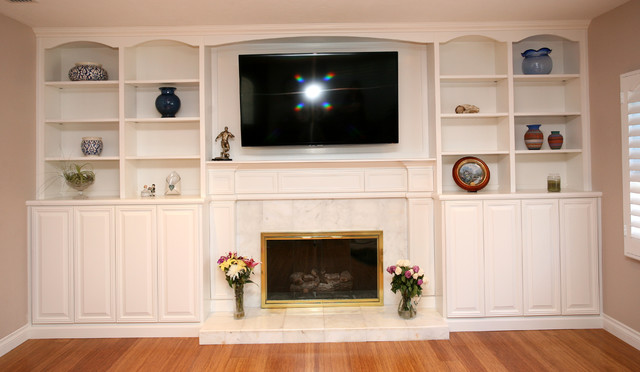 Fireplace Walls - Transitional - Family Room - Orange County - by ...