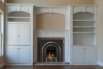 Fireplace With Built In Cabinets Traditional Family Room