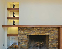 Fireplace with Firewood Storage contemporary-family-room