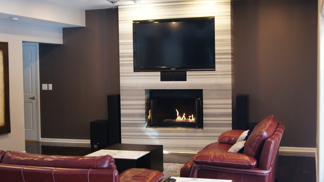 Fireplace Wrap - Contemporary - Family Room - Chicago - by ...