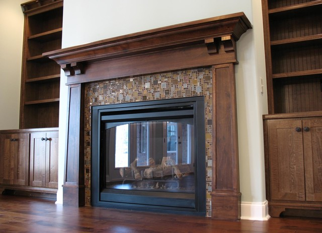 mission style fireplace mantel. Fireplaces traditional family room  Traditional Family Room Other by Action