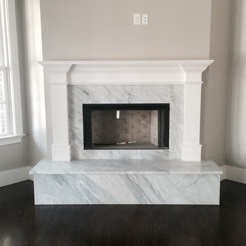 Marble modern fireplace surrounds