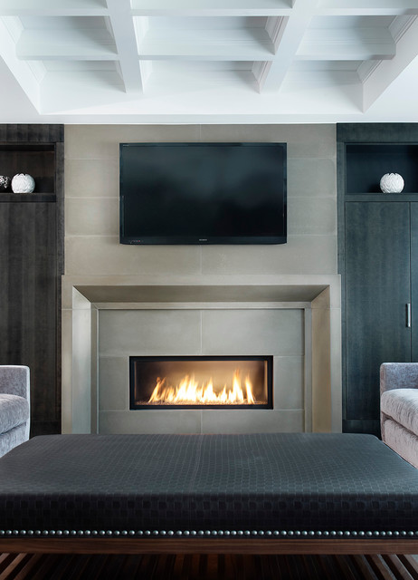 Fireplaces contemporary-family-room
