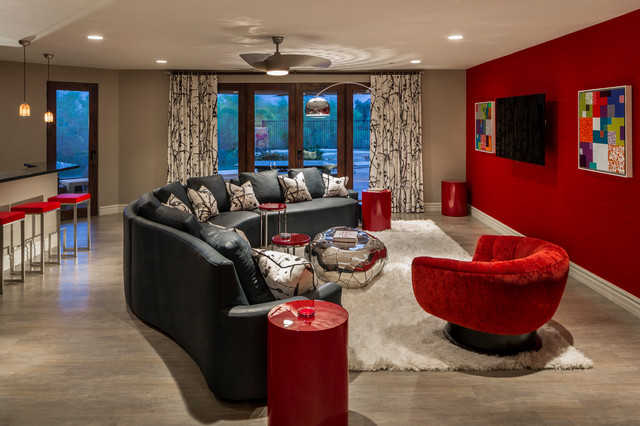 Firerock Country Club Contemporary Family Room