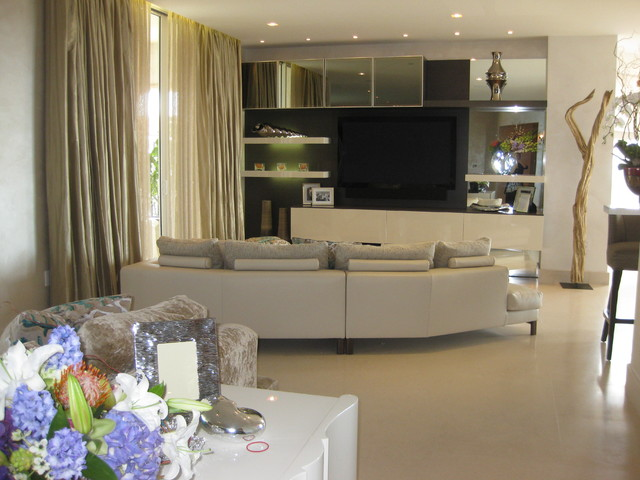 Fisher Island contemporary-family-room