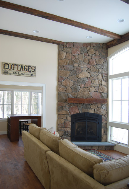 Floor to ceiling stone fireplace - Floor to ceiling fireplace ...