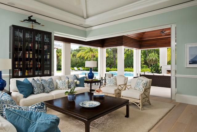 florida living bord de mer salle de s jour miami. Black Bedroom Furniture Sets. Home Design Ideas