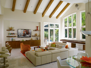 Florida Vernacular Key West Style Home Contemporary Family Room Miami By Hollub Homes