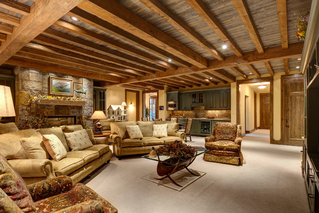 Foothills Road Golden Co Traditional Family Room Denver By Jon Eady Photographer