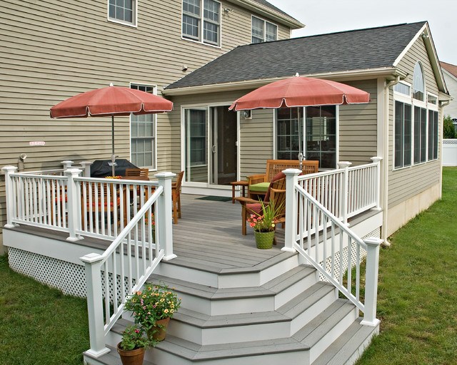 Four season room deck traditional family room for 3 season sunroom designs